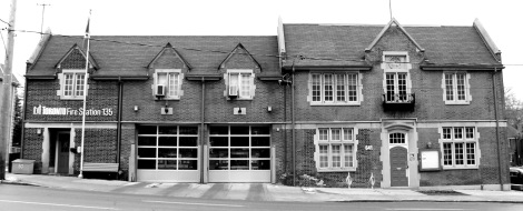 Heritage designated Fire Station #135 at 641 Eglinton Avenue West